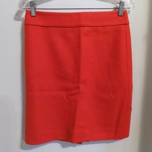 J. CREW Tangerine Orange Wool Pencil Skirt, 2